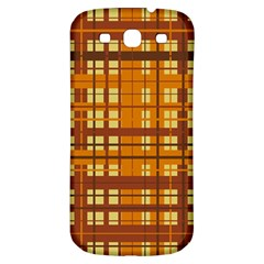 Plaid Pattern Samsung Galaxy S3 S Iii Classic Hardshell Back Case by linceazul