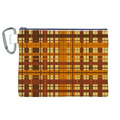 Plaid Pattern Canvas Cosmetic Bag (xl) by linceazul