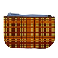 Plaid Pattern Large Coin Purse by linceazul