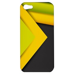 Abstraction Lines Stripes  Apple Iphone 5 Hardshell Case by amphoto