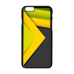 Abstraction Lines Stripes  Apple Iphone 6/6s Black Enamel Case by amphoto