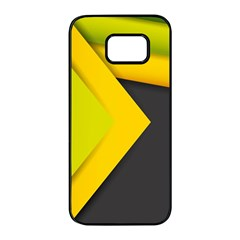 Abstraction Lines Stripes  Samsung Galaxy S7 Edge Black Seamless Case by amphoto