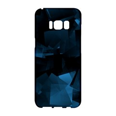 Abstraction Shapes Dark Background  Samsung Galaxy S8 Hardshell Case