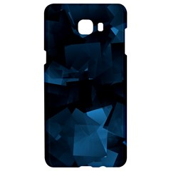 Abstraction Shapes Dark Background  Samsung C9 Pro Hardshell Case  by amphoto
