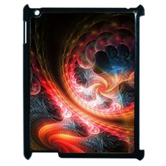 Abstraction Flowering Lines Fractal  Apple Ipad 2 Case (black) by amphoto