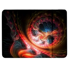 Abstraction Flowering Lines Fractal  Samsung Galaxy Tab 7  P1000 Flip Case by amphoto