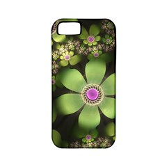 Abstraction Fractal Flowers Greens  Apple Iphone 5 Classic Hardshell Case (pc+silicone) by amphoto