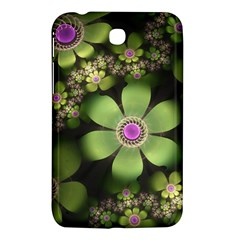 Abstraction Fractal Flowers Greens  Samsung Galaxy Tab 3 (7 ) P3200 Hardshell Case  by amphoto
