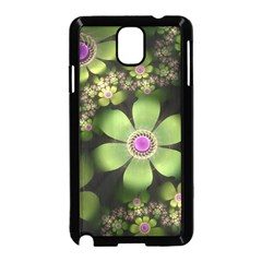 Abstraction Fractal Flowers Greens  Samsung Galaxy Note 3 Neo Hardshell Case (black) by amphoto
