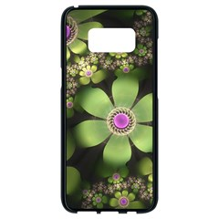 Abstraction Fractal Flowers Greens  Samsung Galaxy S8 Black Seamless Case by amphoto