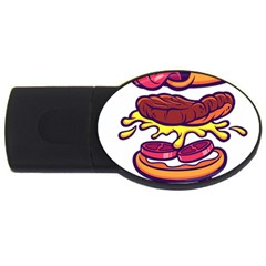 Burger Kill Usb Flash Drive Oval (2 Gb) by quirogaart