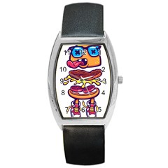 Burger Kill Barrel Style Metal Watch by quirogaart