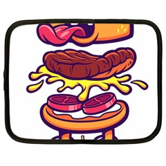 Burger Kill Netbook Case (large) by quirogaart