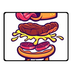 Burger Kill Double Sided Fleece Blanket (small)  by quirogaart