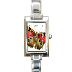 Butterfly Bright Vintage Drawing Rectangle Italian Charm Watch