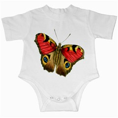 Butterfly Bright Vintage Drawing Infant Creepers