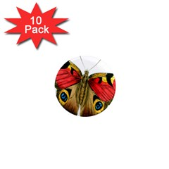 Butterfly Bright Vintage Drawing 1  Mini Magnet (10 Pack)