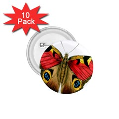 Butterfly Bright Vintage Drawing 1 75  Buttons (10 Pack) by Nexatart