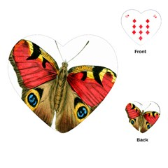 Butterfly Bright Vintage Drawing Playing Cards (heart)