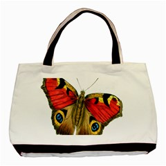 Butterfly Bright Vintage Drawing Basic Tote Bag