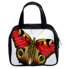 Butterfly Bright Vintage Drawing Classic Handbags (2 Sides) by Nexatart
