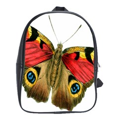 Butterfly Bright Vintage Drawing School Bag (large)