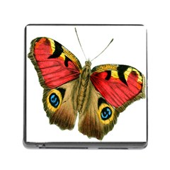 Butterfly Bright Vintage Drawing Memory Card Reader (square)