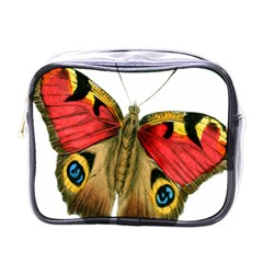 Butterfly Bright Vintage Drawing Mini Toiletries Bags by Nexatart