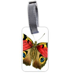 Butterfly Bright Vintage Drawing Luggage Tags (two Sides)