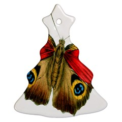 Butterfly Bright Vintage Drawing Christmas Tree Ornament (two Sides)