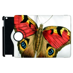 Butterfly Bright Vintage Drawing Apple Ipad 2 Flip 360 Case by Nexatart