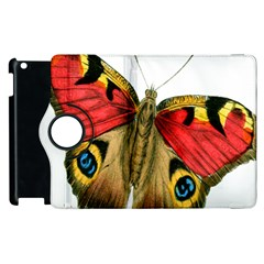 Butterfly Bright Vintage Drawing Apple Ipad 3/4 Flip 360 Case by Nexatart