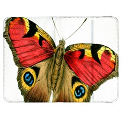 Butterfly Bright Vintage Drawing Samsung Galaxy Tab 7  P1000 Flip Case
