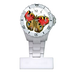 Butterfly Bright Vintage Drawing Plastic Nurses Watch