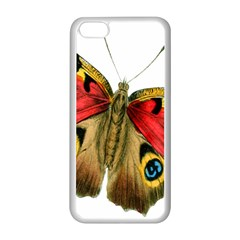 Butterfly Bright Vintage Drawing Apple Iphone 5c Seamless Case (white)