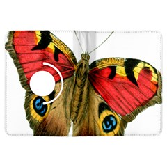 Butterfly Bright Vintage Drawing Kindle Fire Hdx Flip 360 Case by Nexatart