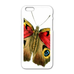 Butterfly Bright Vintage Drawing Apple Iphone 6/6s White Enamel Case by Nexatart
