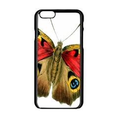 Butterfly Bright Vintage Drawing Apple Iphone 6/6s Black Enamel Case
