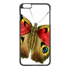 Butterfly Bright Vintage Drawing Apple Iphone 6 Plus/6s Plus Black Enamel Case