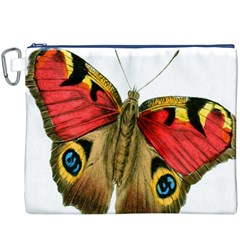 Butterfly Bright Vintage Drawing Canvas Cosmetic Bag (xxxl) by Nexatart