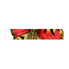 Butterfly Bright Vintage Drawing Flano Scarf (mini)
