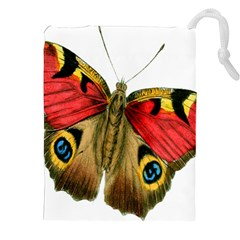 Butterfly Bright Vintage Drawing Drawstring Pouches (xxl) by Nexatart