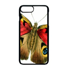 Butterfly Bright Vintage Drawing Apple Iphone 7 Plus Seamless Case (black)