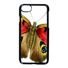 Butterfly Bright Vintage Drawing Apple Iphone 7 Seamless Case (black) by Nexatart