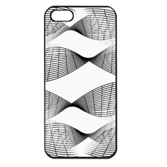 Curves Pattern Black On White Apple Iphone 5 Seamless Case (black) by CrypticFragmentsColors