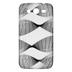 Curves Pattern Black On White Samsung Galaxy Mega 5 8 I9152 Hardshell Case  by CrypticFragmentsColors