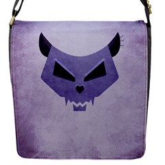 Purple Evil Cat Skull Flap Covers (s)  by CreaturesStore