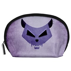 Purple Evil Cat Skull Accessory Pouches (large)  by CreaturesStore