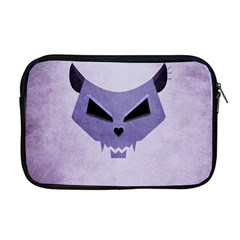 Purple Evil Cat Skull Apple Macbook Pro 17  Zipper Case by CreaturesStore