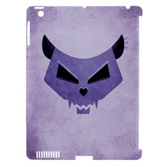 Purple Evil Cat Skull Apple Ipad 3/4 Hardshell Case (compatible With Smart Cover) by CreaturesStore